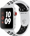 Apple - Apple Watch Nike+ Series 3 (GPS + Cellular), 42mm Silver Aluminum Case with Pure Platinum/Black Nike Sport Band - Silver Aluminum