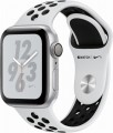 Apple Watch Nike+ Series 4 (GPS), 40mm Silver Aluminum Case with Pure Platinum/Black Nike Sport Band - Silver Aluminum