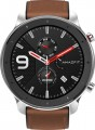 Amazfit - GTR Smartwatch 47mm - Stainless Steel With Brown Leather Strap